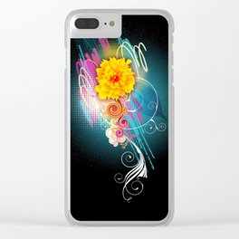 Boom flower Clear iPhone Case