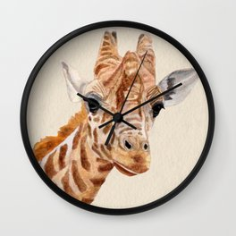 Giraffe Portrait Wall Clock