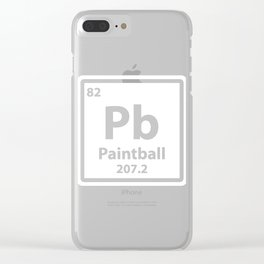 Periodic Table Pb Paintball Gift Clear iPhone Case