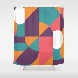 Abstract Colorful Pattern Design Shower Curtain