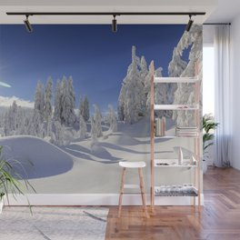 Snow Top Mountains Wall Mural
