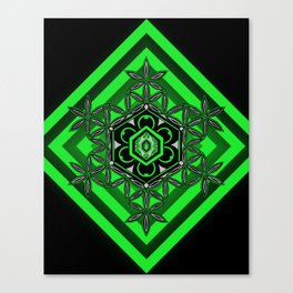 Crystal of Life green Canvas Print