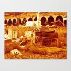 fishing & the  beach (brighton 07) Canvas Print