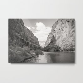 Grand Canyon in Black and White Metal Print