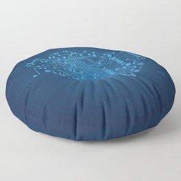 Electric brain Floor Pillow