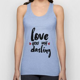 Love You My Darling Unisex Tank Top