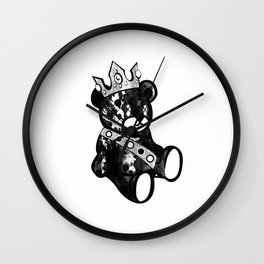 Bear King Splash Wall Clock