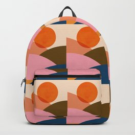 Abstraction_SUNSET_Mountains_Minimalism_010 Backpack
