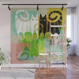 FELINE REFLECTIONS Wall Mural