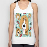 snoopy Tank Tops featuring Beafus the Bad Boy Beagle by Amy Gale
