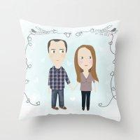 wedding Throw Pillows featuring wedding by mondebettina