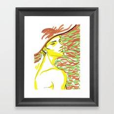 summer girl 1 Framed Art Print