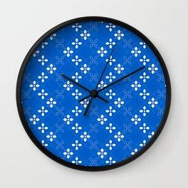 Royal Blue Tiles Wall Clock