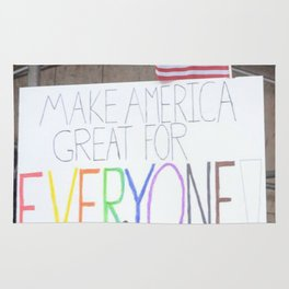 Make America Great For Everyone Rug