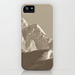 Alaskan Mts. - Mono I iPhone Case