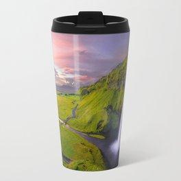 Seljalandsfoss, Iceland waterfall Travel Mug