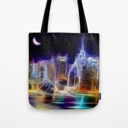 Starry Night New York City Tote Bag