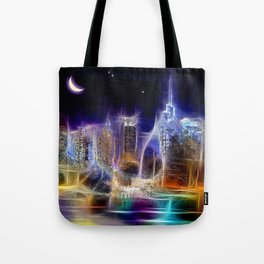 Starry Night New York City Tote Bag