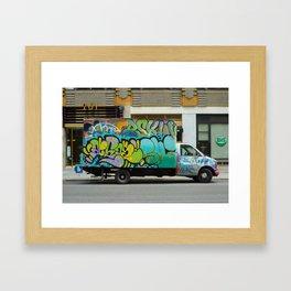graffiti truck coopers Framed Art Print