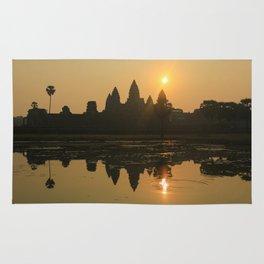 Angkor Wat Temple sunrise Rug