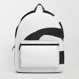 Black And White Minimalist Mid Century Abstract Ink Art Genie Aladdin Smoke Jin Lamp Minimal Smoke Backpack