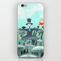 studio ghibli iPhone & iPod Skins featuring Studio Ghibli Jumping by Whimsette