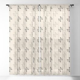 Brotherhood symbol Sheer Curtain