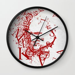 Typographic Atatürk Portrait Wall Clock
