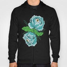 Spooky Blue Roses Hoody