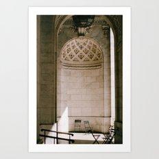 Alcove New York Public Library Art Print
