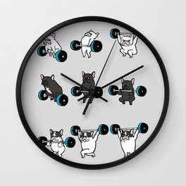 OLYMPIC LIFTING FRENCHIE Wall Clock