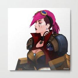 VI portrait from league of legends Metal Print