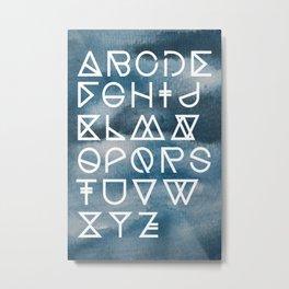 geometrical ABC - ink aquarelle Metal Print