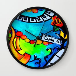 Canal Street Music Wall Clock