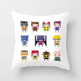 Pixel X-Men Throw Pillow