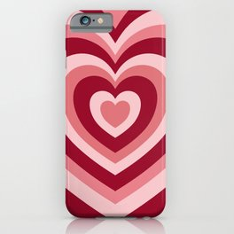Rose Red Hypnotic Hearts iPhone Case