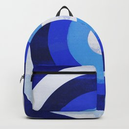 HOMEMADE 70S BLUE TARGET PATTERN Backpack