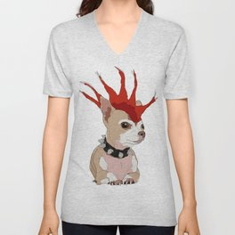 Bad Ass Chihuahua Unisex V-Neck