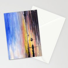 Sunset Watercolor Painting Landscape Art Stationery Cards