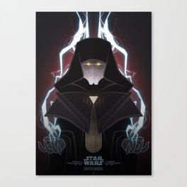 StarWars Villains - Darth Sidious Canvas Print
