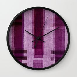 """Blackberry Retro Squares"" Wall Clock"