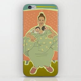 Mother with Twins iPhone Skin