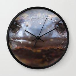 Portrait of a fire salamander Wall Clock