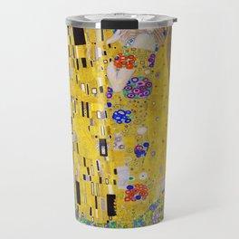 Gustav Klimt - The Kiss - Digital Remastered Edition Travel Mug