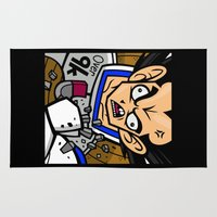 vegeta Area & Throw Rugs featuring Over 9K by Artistic Dyslexia