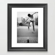 Coke & Skate Framed Art Print