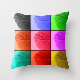 Pop Feathers Throw Pillow