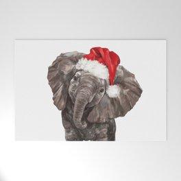 Christmas Baby Elephant Welcome Mat