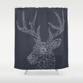 Interconnected Deer Shower Curtain