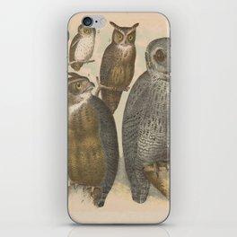 Naturalist Owls iPhone Skin